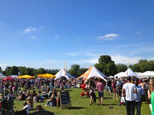 Фестиваль еды в парке у Клапхэм Коммон
